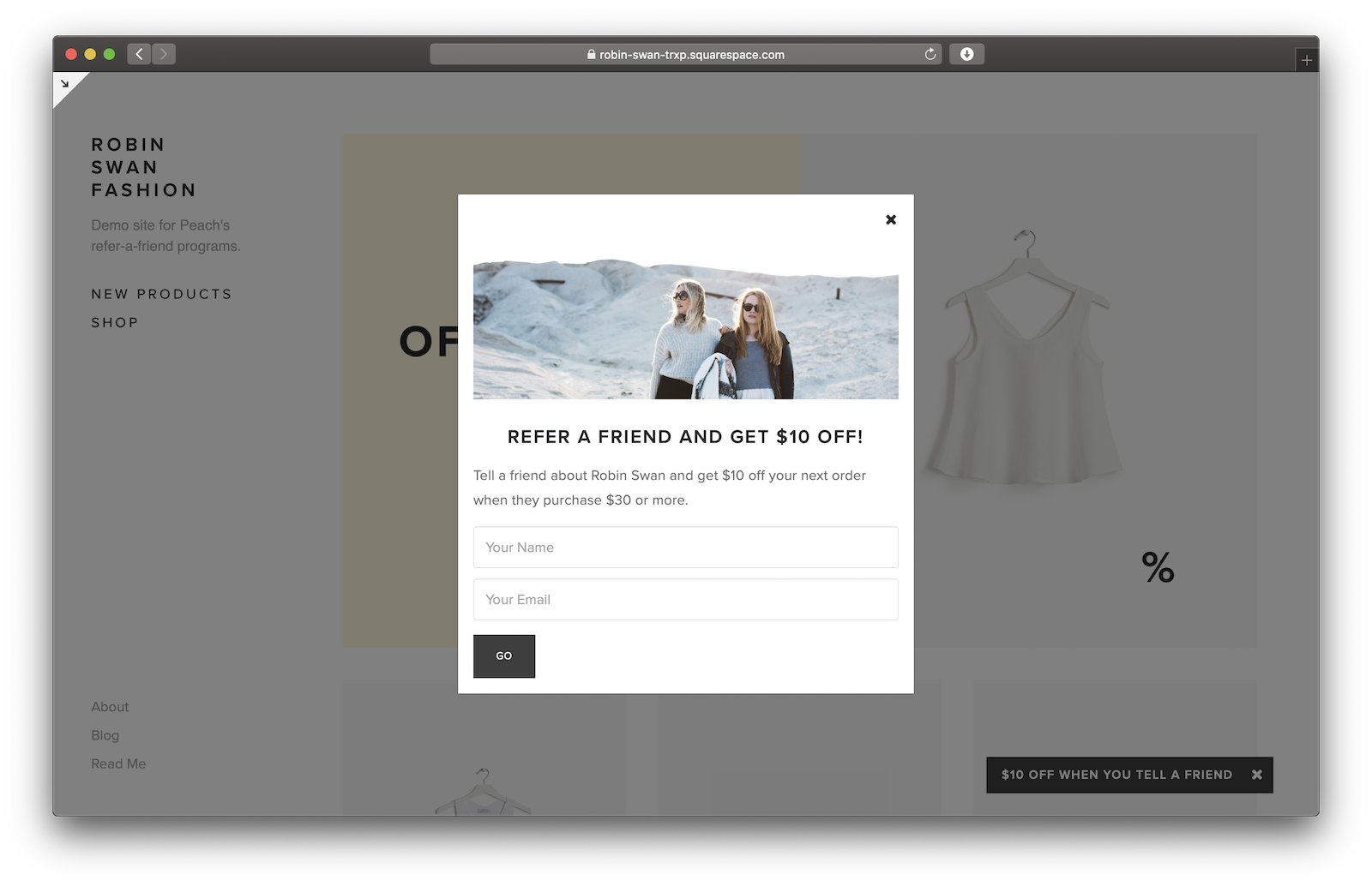 Successful Squarespace referral program